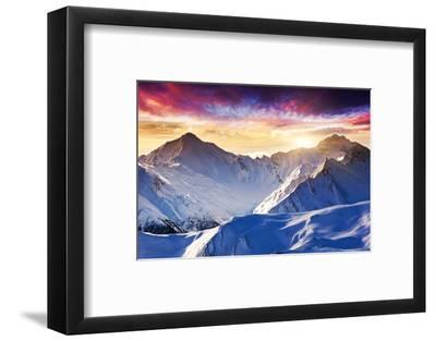 Fantastic Evening Winter Landscape-Leonid Tit-Framed Photographic Print