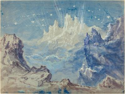 Fantastic Mountainous Landscape with a Starry Sky-Robert Caney-Giclee Print