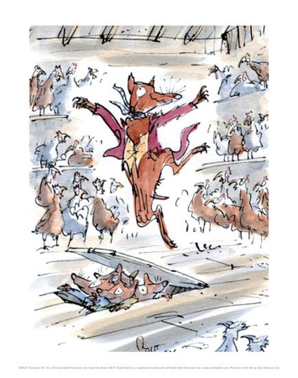 Fantastic Mr Fox Art Print Quentin Blake Art Com