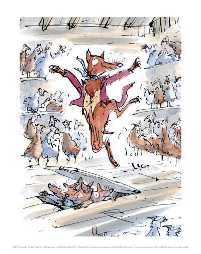 Fantastic Mr Fox-Quentin Blake-Art Print