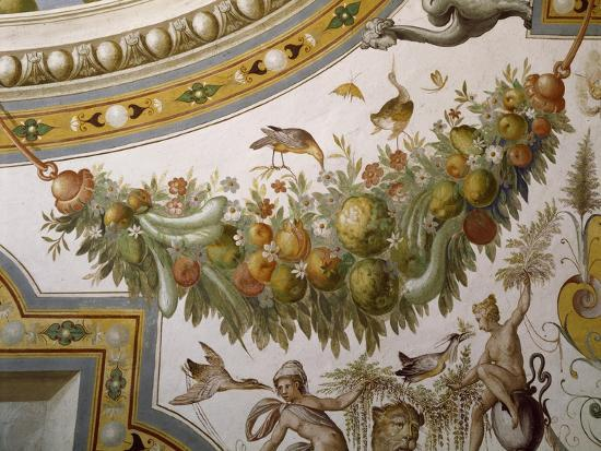 Fantastical Patterns and Festoon with Fruit and Flowers, from Vault of Hall of Victory--Giclee Print