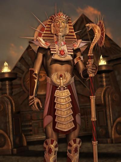 Fantasy Ancient Egyptian-Atelier Sommerland-Art Print