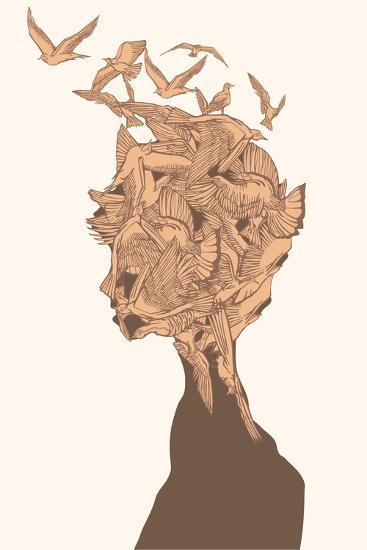 Fantasy Birds-RYGER-Art Print