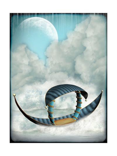 Fantasy Boat-justdd-Art Print