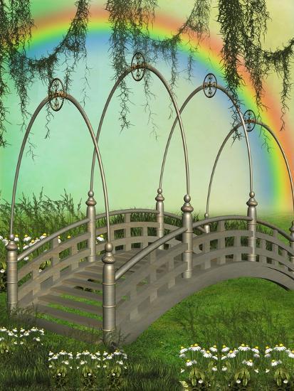 Fantasy Bridge-justdd-Art Print