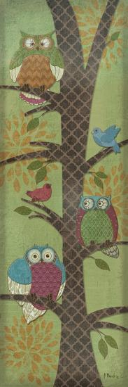 Fantasy Owls Panel I-Paul Brent-Premium Giclee Print