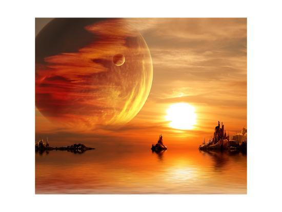 Fantasy Sunset-frenta-Art Print