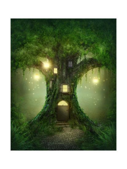 Fantasy Tree House-egal-Art Print