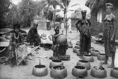Fanti Women Making Earthenware, Elmina, Ghana, 1922-PA McCann-Giclee Print