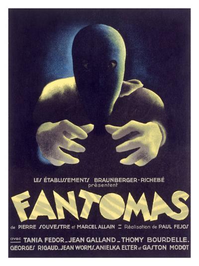 Fantomas, Sci-Fi Movie Poseter--Giclee Print