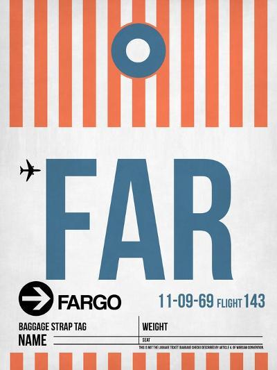 FAR Fargo Luggage Tag II-NaxArt-Art Print