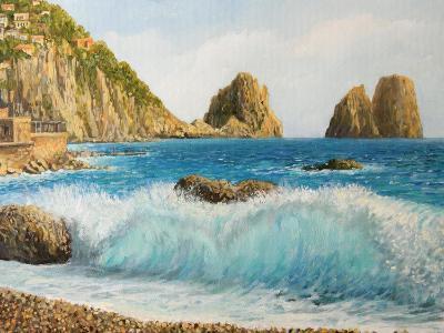 Faraglioni On Island Capri-kirilstanchev-Art Print