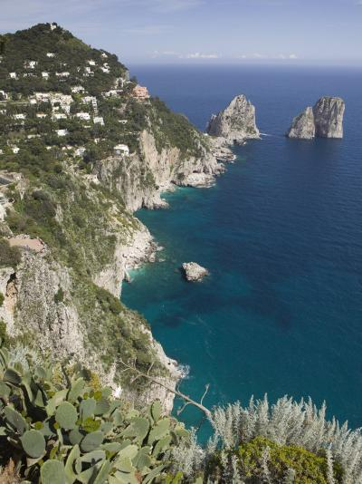 Faraglioni Rocks, Capri, Campania, Italy-Walter Bibikow-Photographic Print