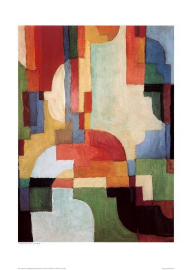 Farbige Formen I, 1933-Auguste Macke-Art Print