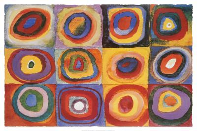 Farbstudie Quadrate, c.1913-Wassily Kandinsky-Poster