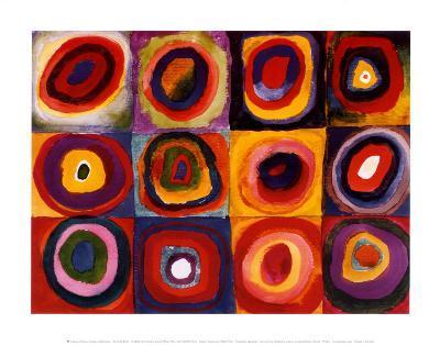 Farbstudie Quadrate, c.1913-Wassily Kandinsky-Art Print