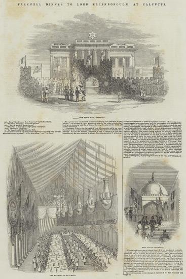 Farewell Dinner to Lord Ellenborough, at Calcutta--Giclee Print