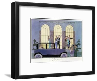 Farewell, Engraved by Henri Reidel, 1920 (Litho)-Georges Barbier-Framed Premium Giclee Print