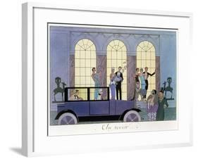 Farewell, Engraved by Henri Reidel, 1920 (Litho)-Georges Barbier-Framed Giclee Print