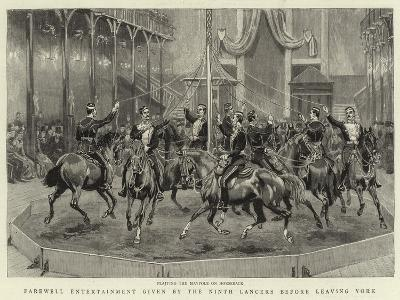 Farewell Entertainment Given by the Ninth Lancers before Leaving York--Giclee Print