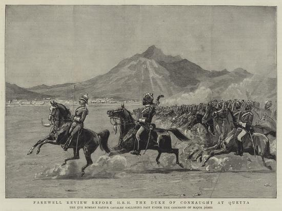 Farewell Review before Hrh the Duke of Connaught at Quetta--Giclee Print