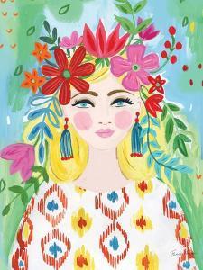 Boho Girl I by Farida Zaman