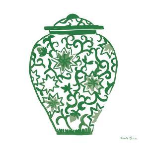 Chinoiserie III Green by Farida Zaman