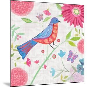 Damask Floral and Bird II v2 by Farida Zaman