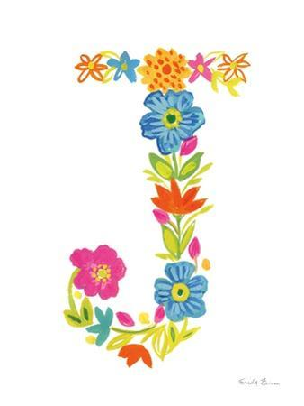 Floral Alphabet Letter X by Farida Zaman