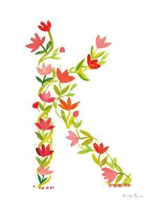 Floral Alphabet Letter XI by Farida Zaman