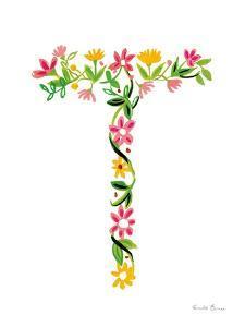 Floral Alphabet Letter XX by Farida Zaman