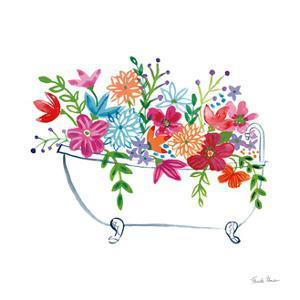 Floral Bathroom I by Farida Zaman