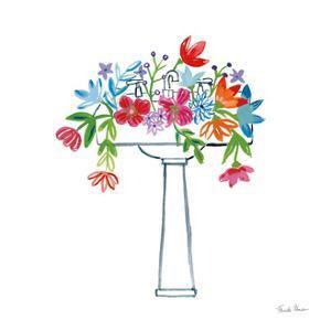 Floral Bathroom II by Farida Zaman