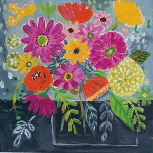 Folk Floral I by Farida Zaman