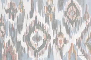 Ikat Jewel I blush grey by Farida Zaman