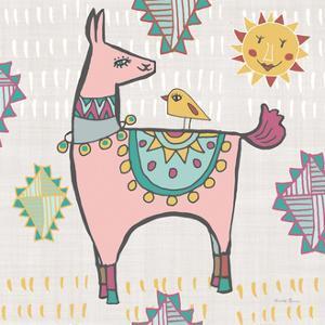 Playful Llamas III by Farida Zaman