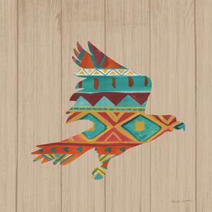 Southwestern Vibes III on Walnut by Farida Zaman