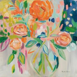 Summer Orange Floral by Farida Zaman