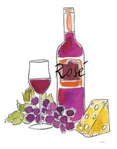 Wine Time III Rose by Farida Zaman