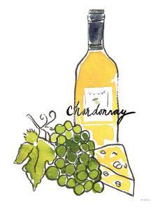 Wine Time IV Chardonnay by Farida Zaman