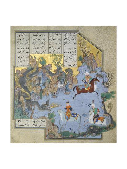 Faridun in the Guise of a Dragon Tests His Sons- Aqa Mirak-Giclee Print