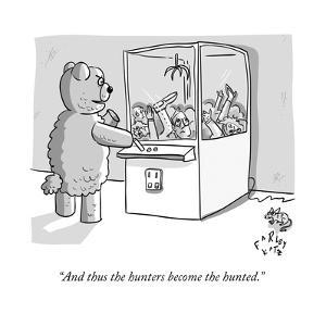 """""""And thus the hunters become the hunted."""" - New Yorker Cartoon by Farley Katz"""
