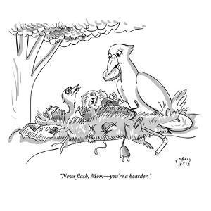 """News flash, Mom?you're a hoarder."" - New Yorker Cartoon by Farley Katz"