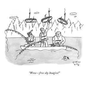 """Wow?free sky hoagies!"" - New Yorker Cartoon by Farley Katz"