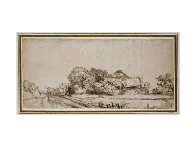 Farm Buildings Beside a Road-Rembrandt van Rijn-Giclee Print