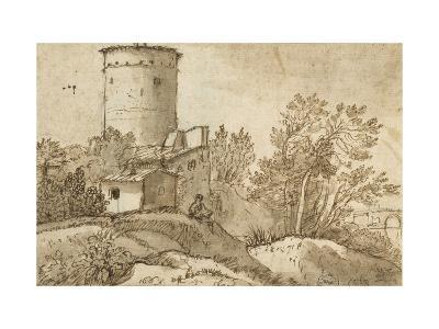 Farm Buildings by the Tiber-Claude Lorraine-Giclee Print