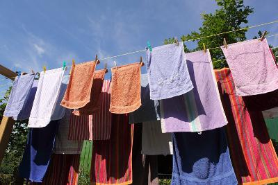 Farm, Clothesline, Towels-Catharina Lux-Photographic Print