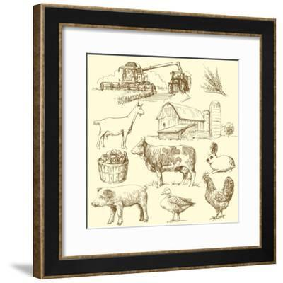 Farm Collection-canicula-Framed Premium Giclee Print