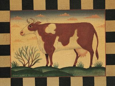 Farm Cow-Diane Pedersen-Art Print