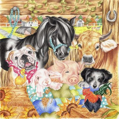 Farm Family-Karen Middleton-Giclee Print